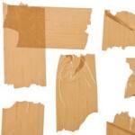 Geurnoot bruin plakband