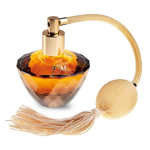 goudgele parfum flacon